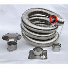"Forever Flex 304L Stainless Steel Appliance Connector Flue Liner Kit - 8"" x 35'"
