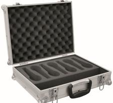 ROADINGER Mikrofon-Case Road 7 Mikrofone  Transportkoffer für Mikrofone -silber
