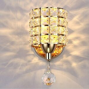 Wall Light Indoor Sconce Lighting Bedside/Aisle Lamp Fixture Modern Crystal LED