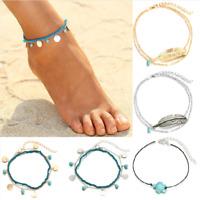 Boho Beach Barefoot Sandal Foot Anklet Tassel Ankle Bracelet Chain Summer Beach