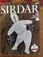Baby knitting patterns.cardigans.trousers.size 18-19 inch chest.DK.Sirdar.hood