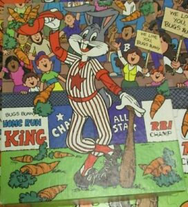Golden 1983 Bugs Bunny Baseball Star 100 Piece Jigsaw Puzzle #4609-32 gm1016