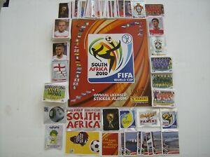 PANINI S/AFRICA  W/CUP 2010-640 LOOSE STICKERS FULL SET+ EMPTY ALBUM & WALLCHART