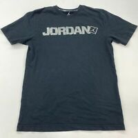 Air Jordan T Shirt Men's Medium Short Sleeve Black Crew Neck 100% Cotton Casual