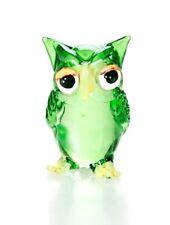 Owl Green Glass Blowing Art handicraft be stylish Decorative Souvenir Gorgeous