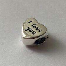 New Genuine Pandora I LOVE YOU Charm & POP UP BOX Wife Love Heart mothers day