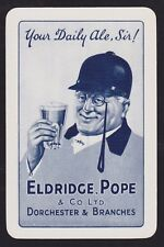 1 Single VINTAGE Swap/Playing Card ELDRIDGE POPE DAILY ALE SIR MAN Beer/Brewery