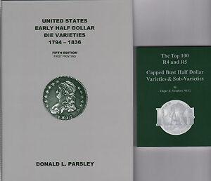 Early Half Dollar Die Varieties 1794-1836-5th+ Top 100 R-4 & R-5 RAG 2 NEW Books