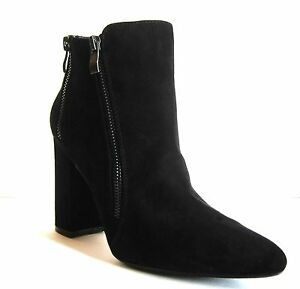 New 2 Lips Too Bootie Black Womens Shoe Size 8 Ankle Boots Double Zipper Shoes