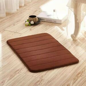 Absorbent Memory Foam Bath Mat Non-slip Bathroom Floor Shower Carpet Soft Rug US
