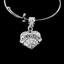 Communion bracelet  communion charm bracelet  jewelry gift slider style