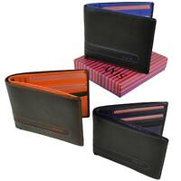 Mens Top Quality Slim Leather Wallet by Mala Axis Collection Two Tone Stylish Gi