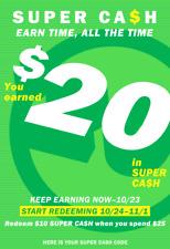 Old Navy Super Cash $20 Off $50 In-Store or Online 10/24-11/1