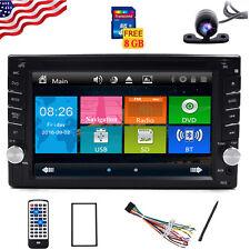 Maps+Double 2DIN In Dash GPS Navi Car DVD Player Bluetooth Auto Stereo Radio USB