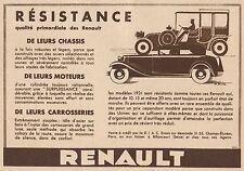 Y8772 Voiture RENAULT - Pubblicità d'epoca - 1931 Old advertising