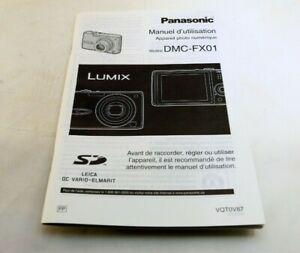 Panasonic Lumix DMC-FX01 Camera Guide Manuel D'utilisation Langue Française
