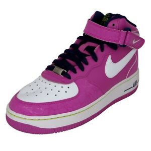 NIKE Air Force 1 MID GS Running Shoes Leather Purple 518218 500 Size 7 Y = 8.5 W
