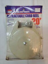 Nhp Indoor/Outdoor Retractable Cord Reel 20' Clothesline New Nip Made in Usa