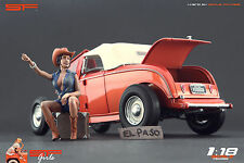 1/18 Autostop Girl Very Rare ! figure for1:18 Cmc Autoart Ferrari