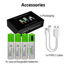 Rechargeable AA/AAA Batteries USB C Lithium 1.5V