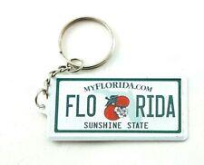 "Florida License Plate Aluminum Ultra-Slim Souvenir Keychain 2.5""x1.25""x0.06"""