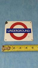 Vintage Porcelain London Souvenir Underground Subway Enamel Sign