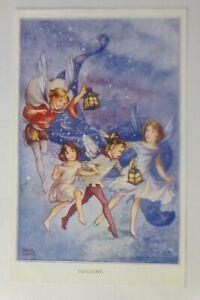 Elfen, Feen, Fairies Serie,  Laternen, Twilight, 1940, Rene Cloke ♥ (51597)