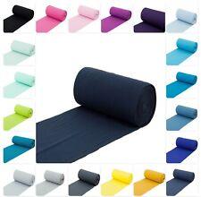 Baumwolle Bündchenstoff Bündchen Schlauchware Stoff - Meterware ab 25 cm x 70 cm