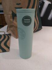 Starbucks 2021 Recycled Plastic Matte Teal Hot Tumbler 16oz
