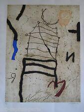 TEXIER RICHARD GRAVURE 1991 SIGNÉE AU CRAYON NUM/33 HANDSIGNED NUMB/33 ETCHING