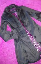 Vintage BLK Goth Bubble Dress Coat Jacket SeXY Betsey Johnson unique VGC Xs