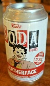 Funko SODA LEATHERFACE Sealed Can 1 of 12,500 Find the Chase Vinyl Figure inside