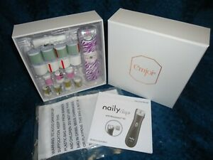 Emjoi Naily Buffing & Trimming Set Purple Animal Print New In Box #1361-FSA
