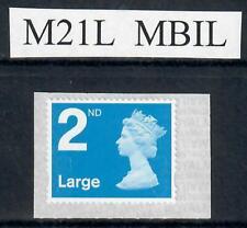 2nd class LARGE Machin defin.  M21L  MBIL  single ex business sheet   NEW FIND