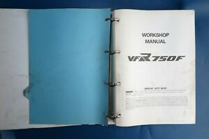 HONDA VFR750F GENUINE FACTORY WORKSHOP MANUAL