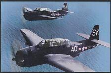 Avenger Grumman TBF-3 US Military Navy Aircraft Dive Bomber USAF Postcard