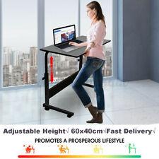More details for height adjustable standing desk laptop computer bedside table sofa home office