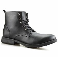 Mens Combat Smart Lace Up Work Ankle Cowboy Military Army Biker Boots Shoes Size