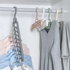8 Holes Organizer Holder Closet Hanger Space Saving Folding Hook Rack Wardrobe--