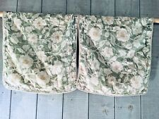 Chaps Louisa King Pillow Sham Green Cream Floral Set/2