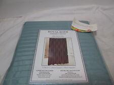 Royal Bath Designer's Collection Blue Stripe Fabric Shower Curtain 72x72 New