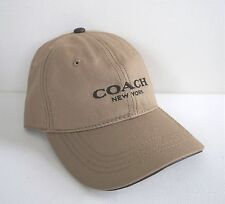 NWT Authentic COACH Embroidered Khaki Adjustable BASEBALL CAP Hat One Size