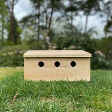 More details for sparrow nest box terrace colony wooden roosting nesting apartments