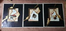 3 X Art Posters - Cello - Spinet - Harpsichord - Burkhard Blossei