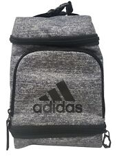 Adidas Insulated Lunch Bag 3 Zippered Compartments, External Mesh Pocket - Gray