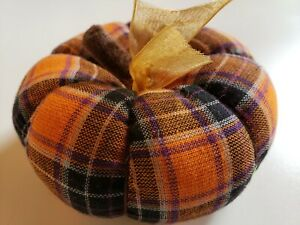 Handcrafted Fabric Pumpkin...Perfect for Your Fall or Halloween Decor