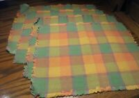 """Set 4) Table Placemats Fall Theme Patchwork w/Fringe~ 12""""x16.5"""" Home Decor  59"""