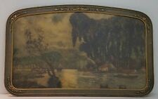 Cabanier Antique 'La Sair River' Lithograph Art Nouveau Frame 32x20