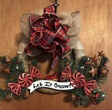 Farmhouse Christmas Wreath Handmade And Very Detailed