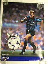 1994 Dennis Bergkamp Reebok Advertising Soccer Poster
